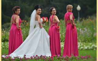 Платья на свадьбу для подружек невесты и их основные виды