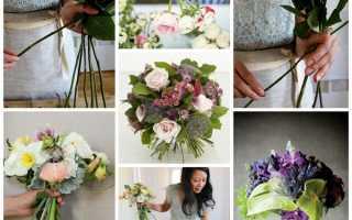 Как сделать свадебный букет своими руками из роз