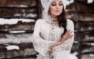 Свадебное платье в национальном стиле – красота созданная предками