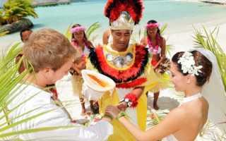 Свадьба на Бора-Бора – что для этого нужно, условия, цены, сценарий торжества