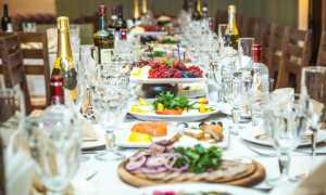 Меню на свадьбу на человека и как его составить