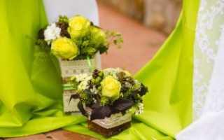 Свадьба в салатовом цвете: свежесть и энергия торжественных образов