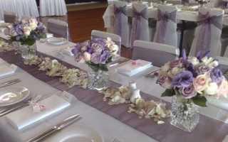 Как украсить и декорировать стол на свадьбу