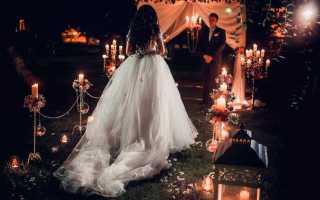 Ночная свадебная церемония – лучшее время для волшебства