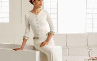 Эффектные свадебные платья закрытые кружевные для стройных невест