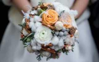 Какие цветы выбрать зимой для свадебного букета невесты