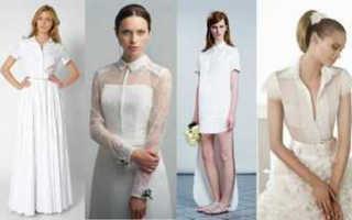Свадебное платье рубашечного стиля: особенности и фасоны платья