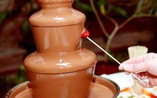 Шоколадный фонтан на свадьбу – как красиво подать десерт
