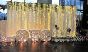 На какой свадьбе пригодится фотозона в золотом цвете?