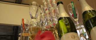 Создание пирамиды шампанского на свадьбу