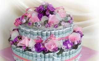 Торт на свадьбу из денег – стильный подарок и креативное решение
