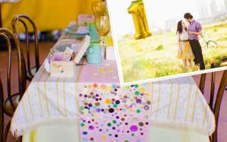 1 год – ситцевая свадьба, первая годовщина свадьбы