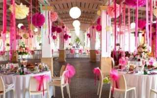 Приготовление украшений на стол на свадьбу своими руками