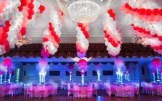 Украшения на свадьбу из шаров своими руками