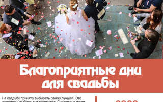 Лунный и православный календарь свадеб на  год