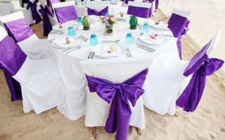 Декор стульев на свадьбу, как и чем украсить
