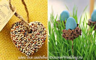 Интересные идеи для свадьбы весной: птицы, трава и цветы