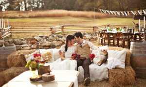 Свадьба в деревенском стиле летом, идеи для проведения