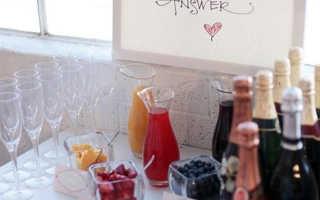 Лимонад-бар на свадьбу – свежая идея для летней свадьбы