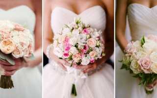 Свадебный букет из красных цветов как яркий элемент образа невесты