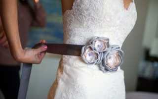 Свадебный пояс своими руками – мастер-классы