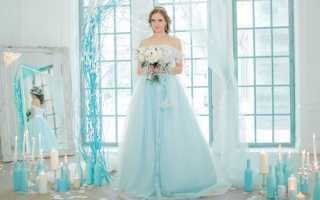 Небесно-голубая свадьба: идеи и решения
