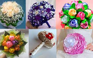 Букет невесты из ткани: как сделать красивый аксессуар своими руками