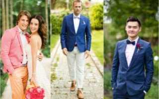Современный образ и свадебные украшения для жениха