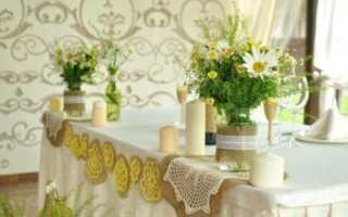 Свадьба в ромашковом стиле – оформление свадьбы