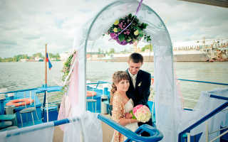 Свадьба на теплоходе — особенности организации