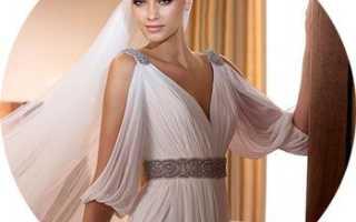 Свадебные платья в греческом стиле, короткие модели