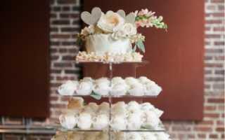 Свадебный торт с капкейками как прекрасное решение для самого главного торжества