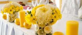 Свадьба в желтом цвете – солнечно и ярко