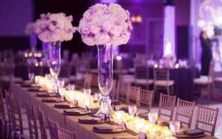 Красочное оформление свадьбы цветами