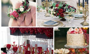 Свадьба в цвете марсала летом – лучшие идеи